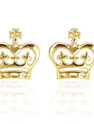 Недорогие -В форме короны Золотой Запонки Медь На каждый день Муж. Бижутерия Назначение День рождения / Официальные