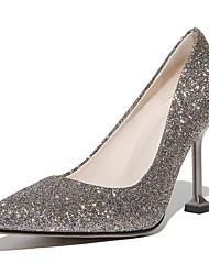 abordables -Femme Chaussures Similicuir Printemps Automne Confort Chaussures à Talons Talon Aiguille Bout pointu pour Habillé Soirée & Evénement Or