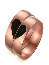 cheap -Couple's Rose Gold Couple Rings - 2pcs Circle Fashion Rose Gold Ring For Gift / Valentine