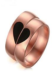 Недорогие -Для пары Розовое золото Кольца для пар - 2шт Круглый Мода Розовое золото Кольцо Назначение Подарок / Валентин