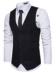 cheap -Men's Basic Slim Vest-Solid Colored / Sleeveless / Work
