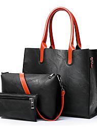 cheap -Women's Bags PU Bag Set 3 Pcs Purse Set Pocket Red / Gray / Brown