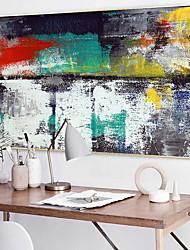 preiswerte -Geramtes Ölgemälde Landschaft Ölgemälde Wandkunst, Plástico Stoff Mit Feld Haus Dekoration Rand Kunst Wohnzimmer