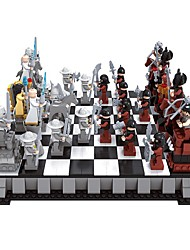 cheap -Building Blocks Chess Game Chess Block Minifigures Educational Toy Toys DIY Kids 1142 Pieces