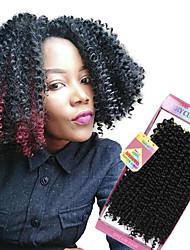 Недорогие -Бразильские волосы Кудрявое плетение Кудрявый Ткет человеческих волос 3 предмета 3 предмета 0.3