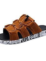 cheap -Men's Shoes Rubber Summer Comfort Sandals Brown / Black / Gray