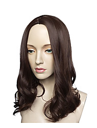 cheap -Synthetic Wig Water Wave Layered Haircut Synthetic Hair Natural Hairline Black Wig Long Capless