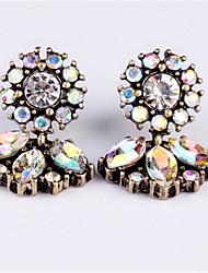 abordables -Femme Diamant synthétique Boucles d'oreille goutte - Imitation Diamant Fleur Mode Blanc Pour Nouvelle Année / Sortie