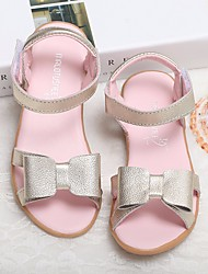 cheap -Girls' Shoes Leather Spring Fall Flower Girl Shoes Comfort Sandals for Casual Gold White Pink