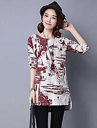 cheap -Women's Chic & Modern Cotton Shirt - Solid Color, Print