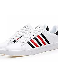 abordables -Homme Chaussures Polyuréthane Printemps Automne Confort Basket pour Décontracté Gris Noir/blanc Blanc et vert