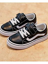 abordables -Garçon Chaussures Cuir Printemps Automne Confort Basket pour Décontracté Noir