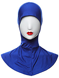 cheap -Egyptian Costume Hijab / Khimar Women's Festival / Holiday Halloween Costumes Beige Cyan Light Purple Brown Blue Solid Colored