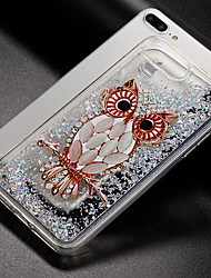 cheap -Case For Apple iPhone X iPhone 8 Flowing Liquid Pattern Back Cover Owl Glitter Shine Soft TPU for iPhone X iPhone 8 Plus iPhone 8 iPhone