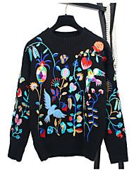 preiswerte -Damen Ausgehen Langarm Pullover - Solide