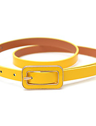 cheap -Women's Leather Waist Belt,Blue White Black Red Yellow Casual