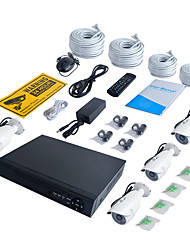 Недорогие -jooan® 4ch 1080p nvr с 2tb hdd 4шт 2-мегапиксельная водонепроницаемая ip-камера ipe 100 футов для ночного видения 48v power over ethernet