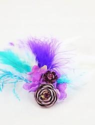 Недорогие -Свадебные цветы Бутоньерки Аксессуары для волос Искусственные цветы Броши и булавки Свадьба Для праздника / вечеринки Страусиный мех