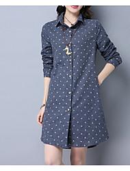 cheap -Women's Cotton Shirt Print Shirt Collar