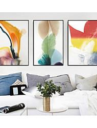 abordables -Set de Cadres Abstrait Illustration Art mural, Polystyrène Matériel Avec Cadre Décoration d'intérieur Cadre Art Salle de séjour Chambre à
