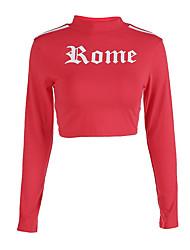 abordables -Femme Mao Manches Longues Sweatshirt Lettre