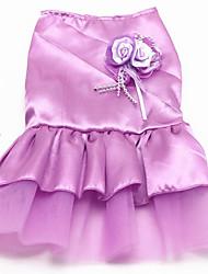 abordables -Chien Robe Vêtements pour Chien Fête / Soirée Mariage Princesse Princesse Violet Rouge Bleu Rose Costume Pour les animaux domestiques
