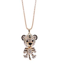 cheap -Women's Rhinestone Pendant Necklace Chain Necklace - Elegant Sweet Tiger Necklace For Party Evening Party
