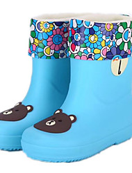 cheap -Girls' Shoes PVC Leather Spring Fall Rain Boots Comfort Boots Mid-Calf Boots for Casual Yellow Green Blue Pink