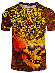 cheap -Men's T-shirt - Print Round Neck