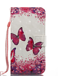 cheap -Case For Samsung Galaxy A5(2017) A3(2017) Card Holder Wallet with Stand Flip Magnetic Pattern Full Body Cases Butterfly Hard PU Leather