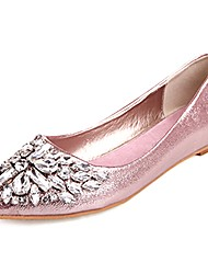 cheap -Women's Shoes PU Spring Fall Comfort Flats Flat Heel for Outdoor Gold Silver Pink