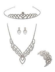 baratos -Mulheres Gema Imitações de Diamante Raposa Conjunto de jóias Jóias para o Corpo / 1 Colar / 1 Bracelete - Fashion / Europeu Branco Tiaras