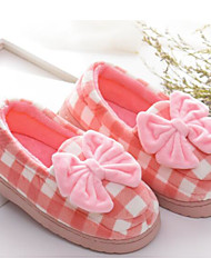 cheap -Girls' Shoes Fabric Spring Fall Comfort Slippers & Flip-Flops for Casual Coffee Red Blue Pink