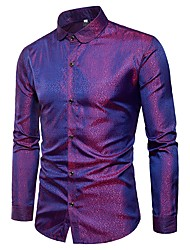 cheap -Men's Cotton Shirt Print Spread Collar