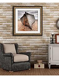 baratos -Paisagem Transporte Ilustração Arte de Parede,PVC Material com frame For Decoração para casa Arte Emoldurada Sala de Estar Quarto Cozinha