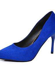 preiswerte -Damen Schuhe PU Frühling Sommer Komfort Pumps High Heels Stöckelabsatz Spitze Zehe für Kleid Party & Festivität Schwarz Rot Blau Rosa