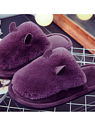 cheap -Girls' Shoes Fleece Winter Fall Comfort Slippers & Flip-Flops for Casual Black Gray Purple Pink Wine