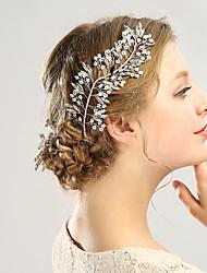 abordables -Alliage Cristal Perle fausse Métallique 1 article Mariage Occasion spéciale Casque