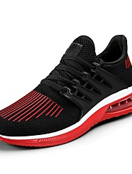 cheap -Men's Shoes PU Tulle Spring Fall Comfort Light Soles Athletic Shoes Running Shoes for Athletic Outdoor Red Gray Black