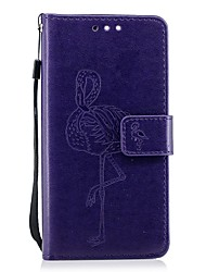 cheap -Case For Huawei Honor 9 Honor 8 Card Holder Wallet with Stand Flip Embossed Flamingo Hard for Huawei