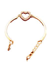 billige -Dame Armbånd - Hjerte Mode Armbånd Guld Til Daglig
