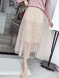 preiswerte -Damen Einfach Schaukel Röcke - Stickerei