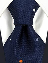 Недорогие -мужская сторона работы районный галстук - polka точка цветной блок жаккарда