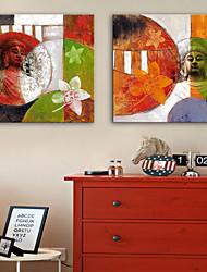Недорогие -Холст для печати Деревня Modern, 2 панели холст Квадратный С картинкой Декор стены Украшение дома