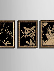 Недорогие -Пейзаж Цветочные мотивы/ботанический Иллюстрации Предметы искусства,ПВХ материал с рамкой For Украшение дома Предметы искусства в рамках