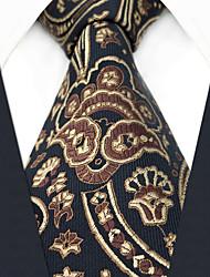Недорогие -мужской партийный рабочий районный галстук - цветочный геометрический жаккард