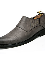 abordables -Homme Chaussures Cuir PU Printemps Automne Confort Mocassins et Chaussons+D6148 pour Décontracté Noir Gris Marron