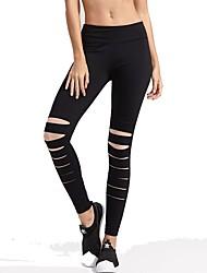 abordables -Mujer Ahuecado Pantalones de Running - Negro, Rojo Deportes Licra Pantalones / Sobrepantalón / Leggings Yoga, Fitness, Gimnasia Ropa de Deporte Transpirabilidad