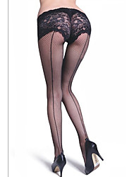 cheap -Women's Thin Pantyhose-Transparent,Lace