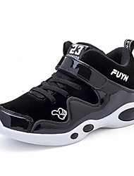 abordables -Garçon / Fille Chaussures Croûte de Cuir Printemps / Automne Confort Chaussures d'Athlétisme pour Noir / Rouge / Course à Pied